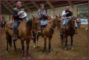 L'équipe gagnante (de droite à gauche) : André Michon, Tania Michon (sa petite-fille), Norbert Chabloz.