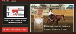 bernard nutrition equine vend d sormais en ligne newestern. Black Bedroom Furniture Sets. Home Design Ideas