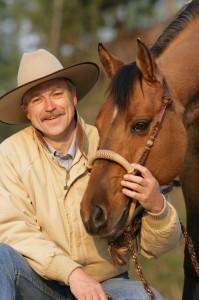 Peter Kreinberg, l'entraîneur allemand qui s'inspire beaucoup des méthodes de dressage western, dialoguera avec les visiteurs d'Americana. Courtesy : G. Boiselle