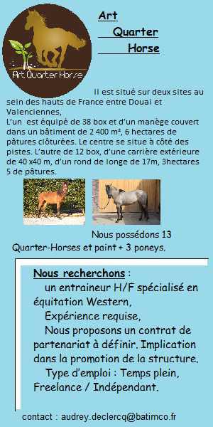 Art Quarter Horse recrute