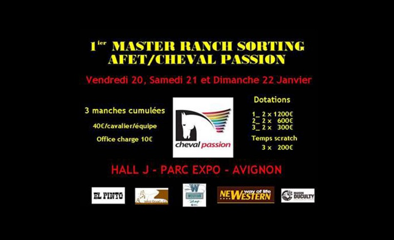 Premier Master AFET / Cheval Passion de Ranch Sorting Open (20 au 22 janvier 2017)