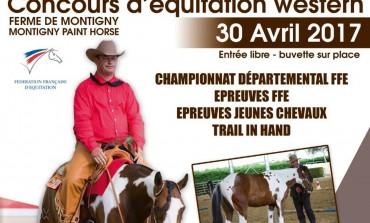 Le concours d'équitation western de Montigny Paint Horse a lieu le 30 avril 2017