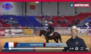 Reined cow horse : Belle campagne française à Americana. Bravo Fred ! Voir la vidéo...
