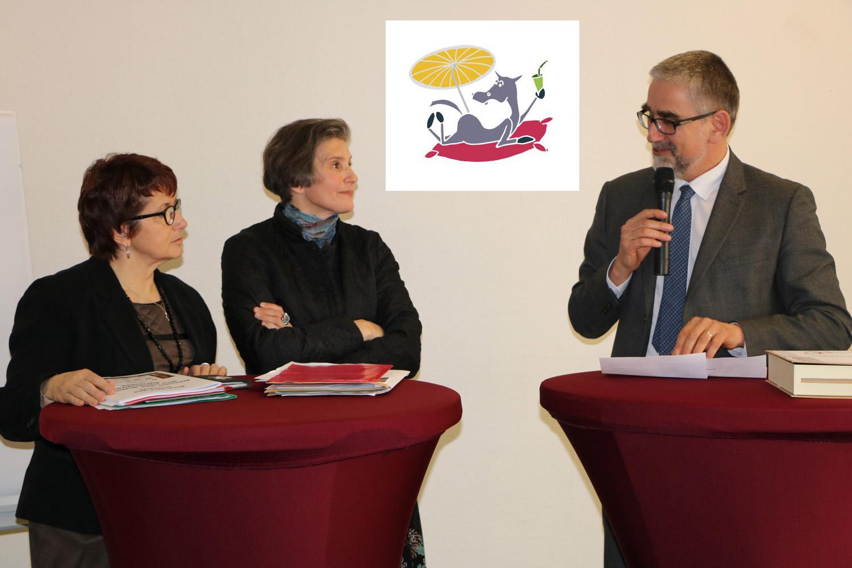 Christiane Lambert (Présidente de la FNSEA), Marianne Dutoit (Présidente de la FNC) et Patrick Dehaumont (Patrick Dehaumont, directeur général de la DGAL) © FNSEA
