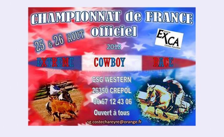 CSG Western accueille le championnat de France 2018 d'Extreme Cowboy Race EXCA