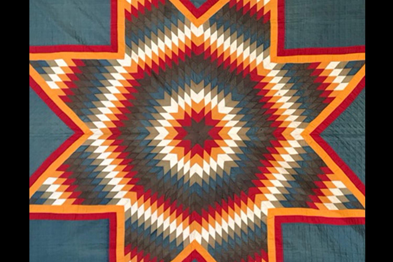Blazing Star - pièce unique – Coton - 201 x 201 cm Date de création : vers 1880, Pennsylvanie