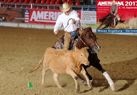 Americana 2017 : 37 000 US $ de dotation en reined cow horse, un record