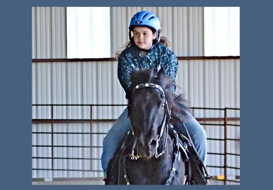 Extreme cowboy race à Equita : Angeline - 11 ans - dans la carrière des grands !