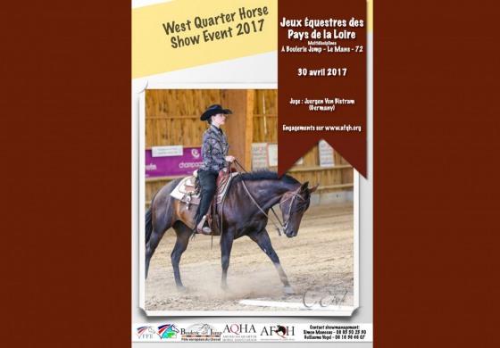Les quarter horses des Pays de la Loire en concours le dimanche 30 avril 2017