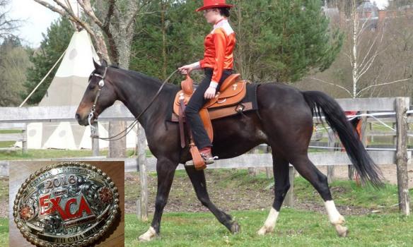 Léa, bientôt sur la carrière à Equita'Lyon pour la Coupe d'Europe d'extreme cowboy race