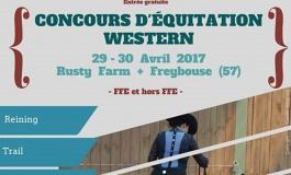 Concours d'équitation western en Moselle fin avril 2017