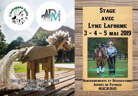 Rendez-vous avec Lyne Laforme début mai 2019 dans l'Yonne