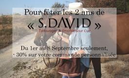 La maroquinerie S.David fête ses deux ans avec une offre spéciale début septembre… à ne pas manquer