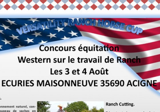 3/4 août 2013 - Versatility Ranch Horse Cup près de Rennes