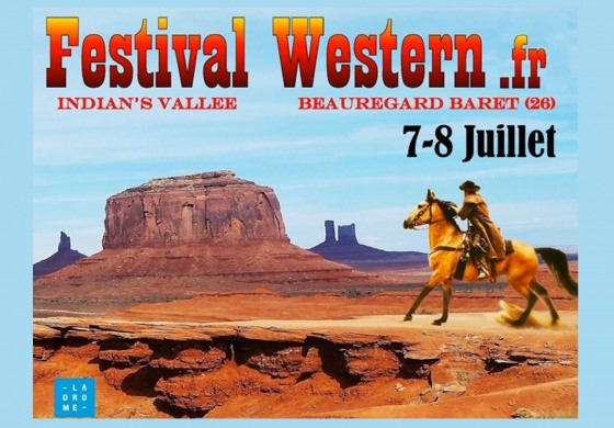 Du 6 au 8 juillet 2018, la Drôme prend l'air du Far West